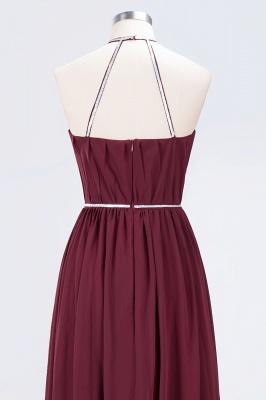 A-line Halter Sleeveless Floor-Length  Bridesmaid Dress with Beading Sash_6