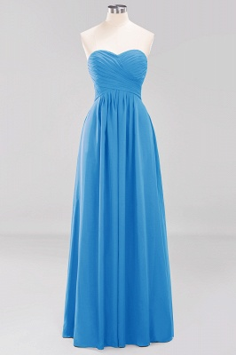 A-line  Sweetheart Strapless Ruffles Floor-length Bridesmaid Dress_24