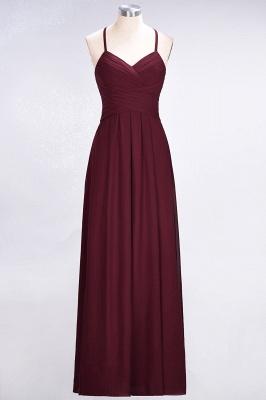 A-Line Halter V-Neck Sleeveless Floor-Length  Bridesmaid Dress with Ruffles_2