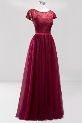 A-Line  Jewel Sleeveless Floor-Length Bridesmaid Dresses with Ruffles_3