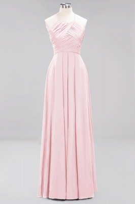A-Line  Halter Ruffles Floor-Length Bridesmaid Dress_3