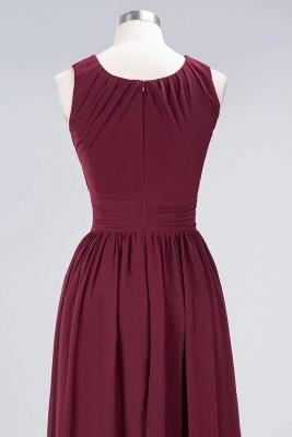 A-Line Round-Neck Sleeveless Floor-Length  Bridesmaid Dress with Ruffles_6