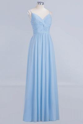 A-Line  V-Neck Spaghetti Straps Floor-Length Bridesmaid Dresses_3