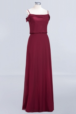 Long Off-the-Shoulder Elegant Burgundy A-Line Bridesmaid Dress_4