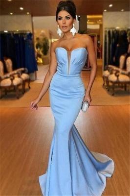 Sexy V-Neck Sleeveless Strapless Mermaid Floor-Length Prom Dress_1