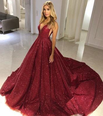 Fashion Straps Sleeveless A-Line V-Neck Floor-Length Prom Dress DD0089_3