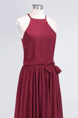Chiffon A-Line Burgundy Simple Cheap Bridesmaid Dress_7