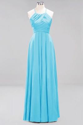 A-Line  Halter Ruffles Floor-Length Bridesmaid Dress_23