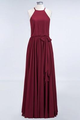 Chiffon A-Line Burgundy Simple Cheap Bridesmaid Dress_3
