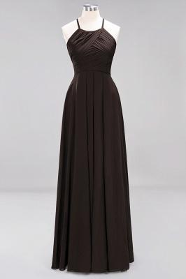 A-Line  Halter Ruffles Floor-Length Bridesmaid Dress_11