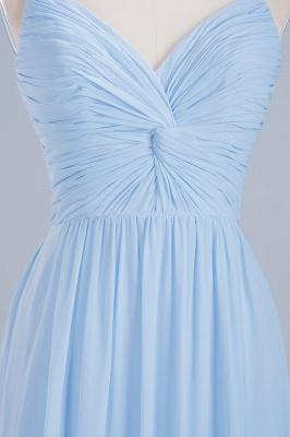 A-Line  V-Neck Spaghetti Straps Floor-Length Bridesmaid Dresses_7