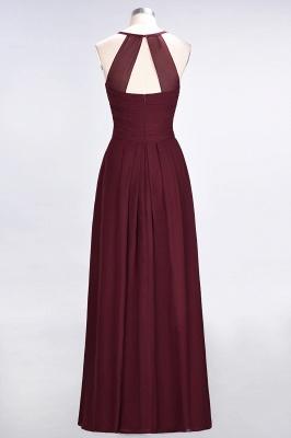 A-Line Halter V-Neck Sleeveless Floor-Length  Bridesmaid Dress with Ruffles_3