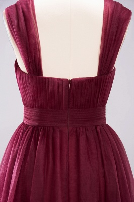 A-Line  Sweetheart Straps Sleeves Floor-Length Bridesmaid Dresses with Ruffles_6