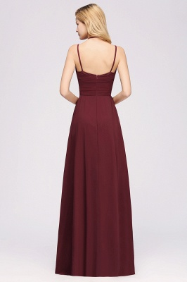 A-line  Spaghetti Straps Sleeveless Ruffles Floor-Length Bridesmaid Dresses_23