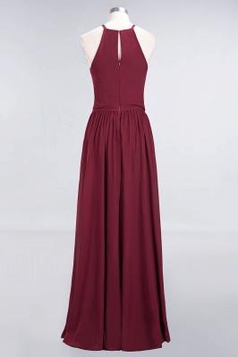 Chiffon A-Line Burgundy Simple Cheap Bridesmaid Dress_4