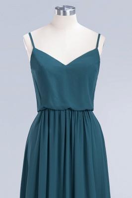 Dark-Green Chiffon A-Line Elegant Spaghetti-Straps Bridesmaid Dress_4