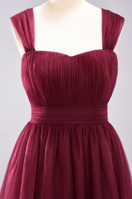 A-Line  Sweetheart Straps Sleeves Floor-Length Bridesmaid Dresses with Ruffles_4