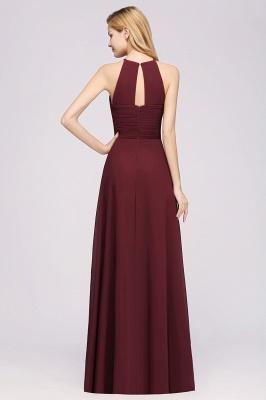 A-Line  Halter Ruffles Floor-Length Bridesmaid Dress_36
