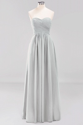 A-line  Sweetheart Strapless Ruffles Floor-length Bridesmaid Dress_29