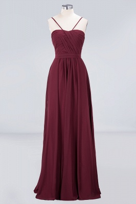A-Line Sweetheart Spaghetti-Straps Backless Floor-Length  Bridesmaid Dress with Ruffles_1
