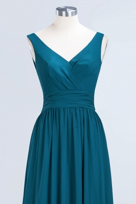 Sleeveless Chiffon A-line Newest Straps Floor-length Bridesmaid Dress_8