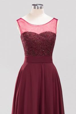 A-Line   Lace Beadings Jewel Sleeveless Floor-Length Bridesmaid Dresses with Sash_4