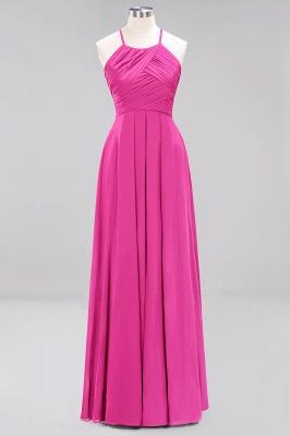 A-Line  Halter Ruffles Floor-Length Bridesmaid Dress_9
