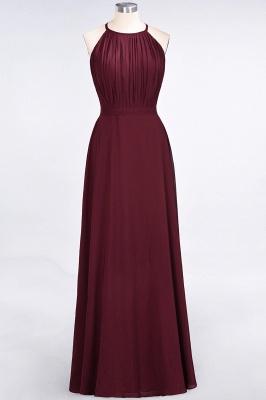 A-Line Jewel Sleeveless Floor-Length  Bridesmaid Dress with Ruffles_1