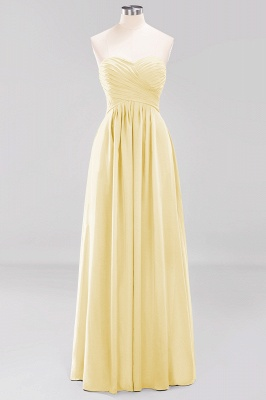 A-line  Sweetheart Strapless Ruffles Floor-length Bridesmaid Dress_17