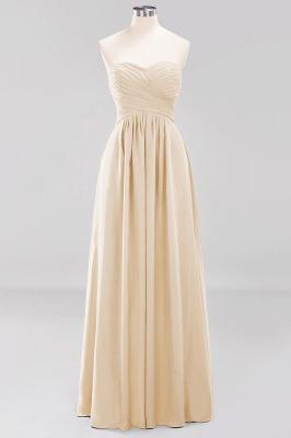 A-line  Sweetheart Strapless Ruffles Floor-length Bridesmaid Dress_14