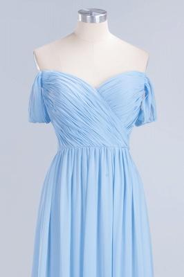 A-Line Straps Sweetheart Sleeveless Floor-Length  Bridesmaid Dress with Ruffles_4