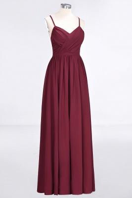 A-Line Spaghetti-Straps V-Neck Sleeveless Floor-Length  Bridesmaid Dress with Ruffles_3