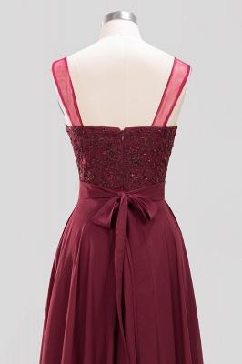 A-Line   Lace Beadings Jewel Sleeveless Floor-Length Bridesmaid Dresses with Sash_5