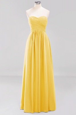A-line  Sweetheart Strapless Ruffles Floor-length Bridesmaid Dress_16