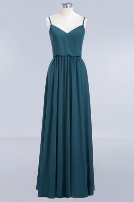 Dark-Green Chiffon A-Line Elegant Spaghetti-Straps Bridesmaid Dress_6