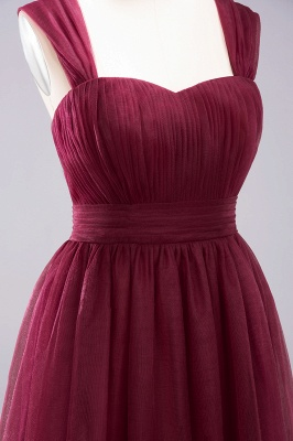 A-Line  Sweetheart Straps Sleeves Floor-Length Bridesmaid Dresses with Ruffles_5