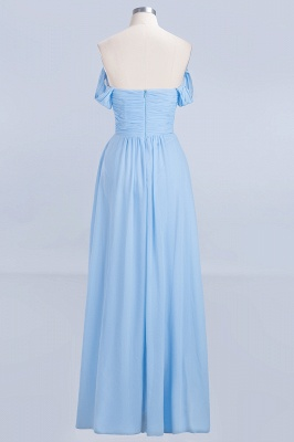 A-Line Straps Sweetheart Sleeveless Floor-Length  Bridesmaid Dress with Ruffles_2