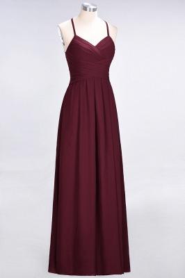 A-Line Halter V-Neck Sleeveless Floor-Length  Bridesmaid Dress with Ruffles_4