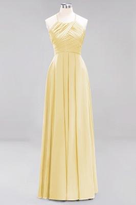 A-Line  Halter Ruffles Floor-Length Bridesmaid Dress_17