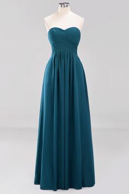 A-line  Sweetheart Strapless Ruffles Floor-length Bridesmaid Dress_26