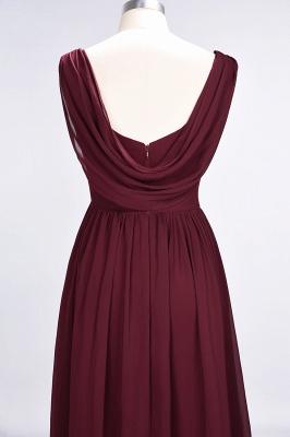 A-Line Straps V-Neck Sleeveless Floor-Length  Bridesmaid Dress with Ruffles_6