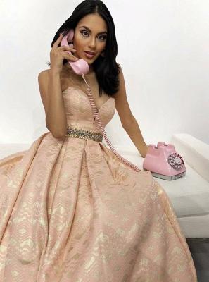 Elegant A-Line Sweetheart Beading Sleeveless Floor-Length Prom Dress_2
