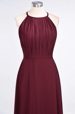 A-Line Jewel Sleeveless Floor-Length  Bridesmaid Dress with Ruffles_4