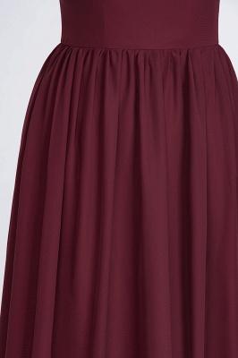 A-Line One-Shoulder Sleeveless Ruffles Floor-Length  Bridesmaid Dress with Beadings_7
