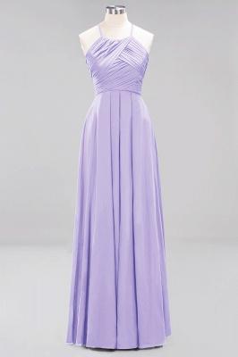 A-Line  Halter Ruffles Floor-Length Bridesmaid Dress_20