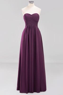 A-line  Sweetheart Strapless Ruffles Floor-length Bridesmaid Dress_19