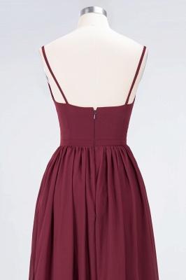 A-Line Spaghetti-Straps Deep-V-Neck Sleeveless Floor-Length  Appliques Bridesmaid Dress with Ruffles_6