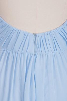 A-Line  V-Neck Spaghetti Straps Floor-Length Bridesmaid Dresses_8