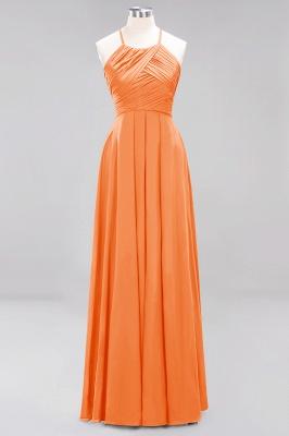 A-Line  Halter Ruffles Floor-Length Bridesmaid Dress_15