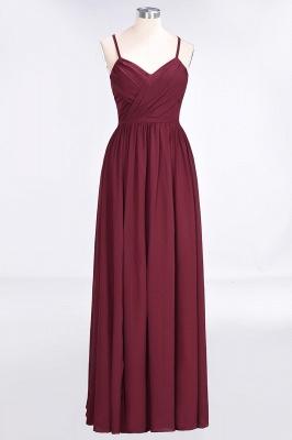 A-Line Spaghetti-Straps V-Neck Sleeveless Floor-Length  Bridesmaid Dress with Ruffles_1